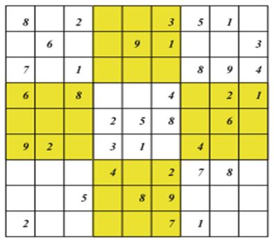 حل سودوکو با الگویتم تابو